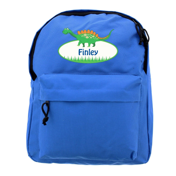 personalised-dinosaur-blue-backpack