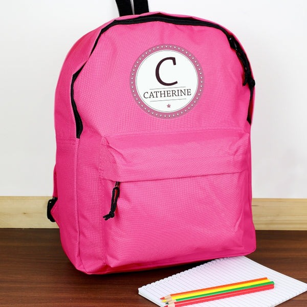 personalised-star-name-pink-backpack