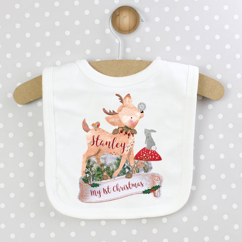 Buy Personalised Festive Fawn Bib