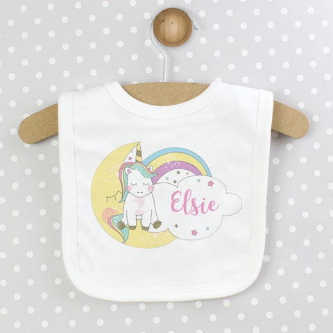 Buy Personalised Baby Unicorn Bib