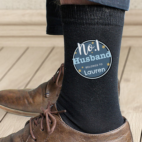 Buy Personalised No.1 Men's Socks