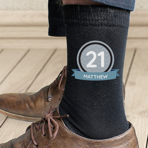 Buy Personalised Birthday Men's Socks