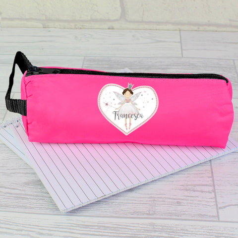 Buy Personalised Fairy Princess Pink Pencil Case