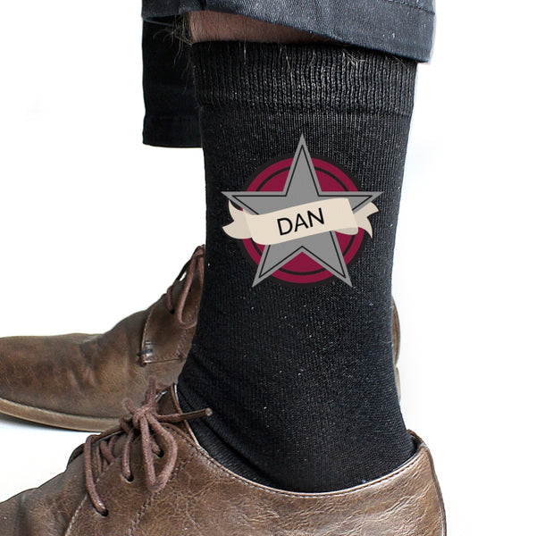 personalised-star-mens-socks