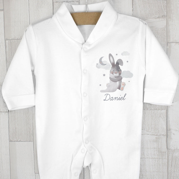Personalised Baby Bunny Babygrow 12-18 months