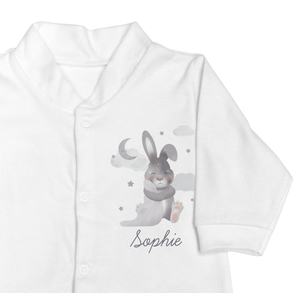 Personalised Baby Bunny Babygrow 9-12 months