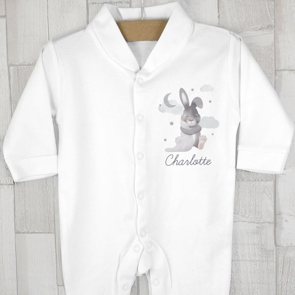 Personalised Baby Bunny Babygrow 6-9 months