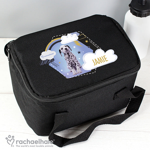 Personalised Rachael Hale Dalmatian Black Lunch Bag