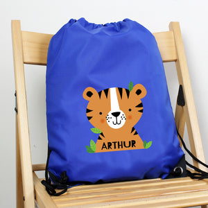 Personalised Tiger Blue Kit Bag