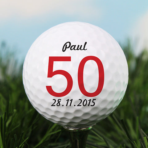 Personalised Big Numbers Birthday Golf Ball | ShaneToddGifts.co.uk