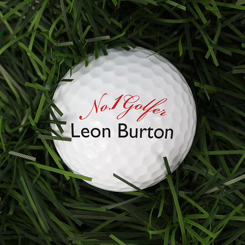 Buy Personalised No1 Golfer Golf Ball