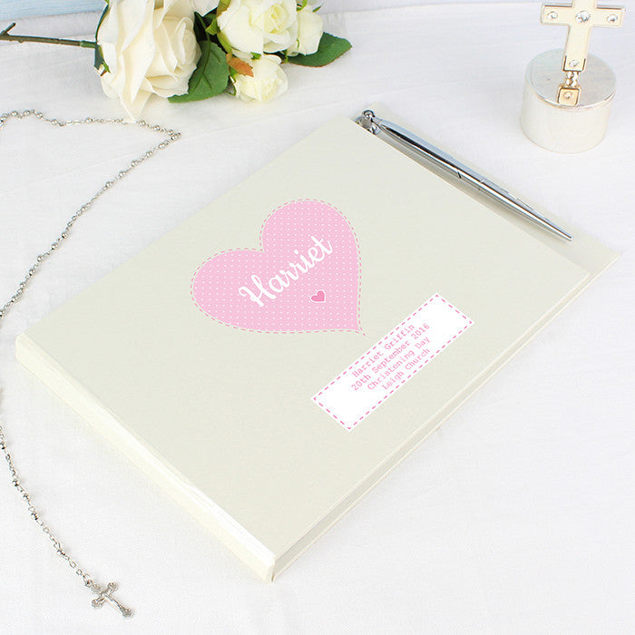 Personalised Stitch & Dot Girls Guest Book & Pen