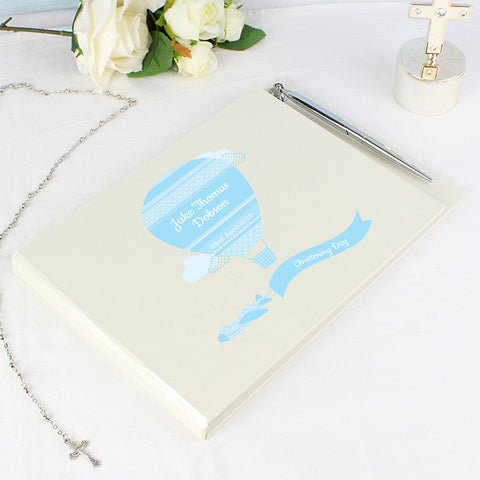 Buy Personalised Up & Away Boys Guest Book & Pen