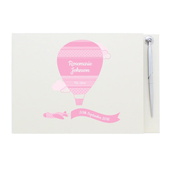 personalised-up-away-girls-guest-book-pen