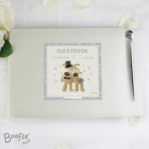 Buy Personalised Boofle Wedding Guest Book & Pen