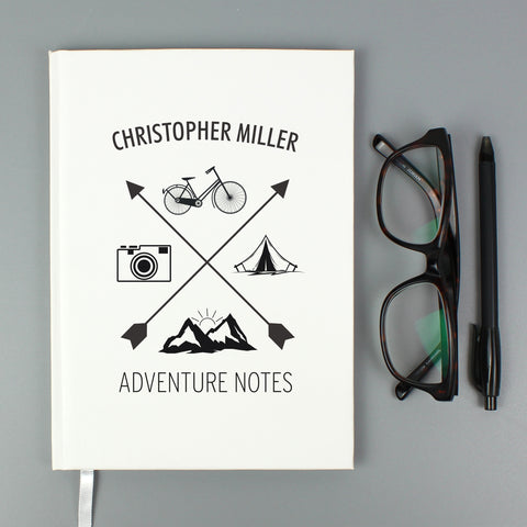 Personalised Adventure Hardback A5 Notebook
