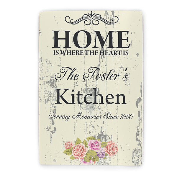 Personalised Shabby Chic Sign