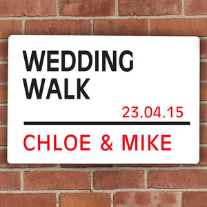 Personalised London Street Metal Sign