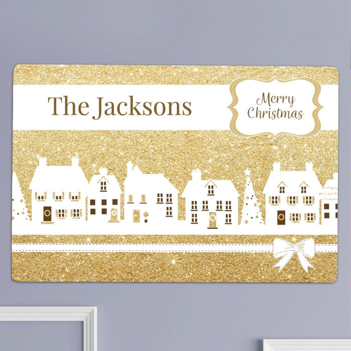 Personalised Festive Village Metal Sign, Business & Industrial by Gifts24-7