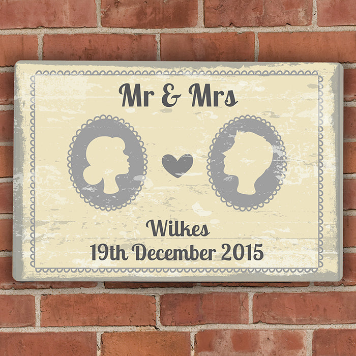 Personalised Cameo Metal Sign, Business & Industrial by Gifts24-7