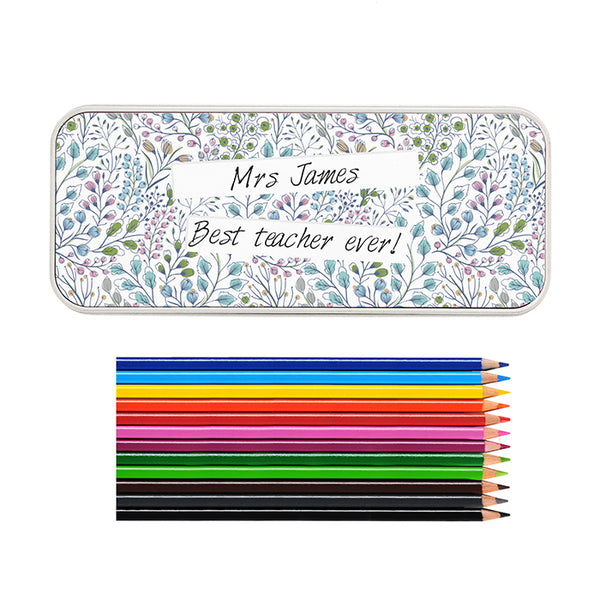 personalised-botanical-pencil-tin-with-pencil-crayons