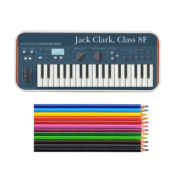 personalised-keyboard-pencil-tin-with-pencil-crayons