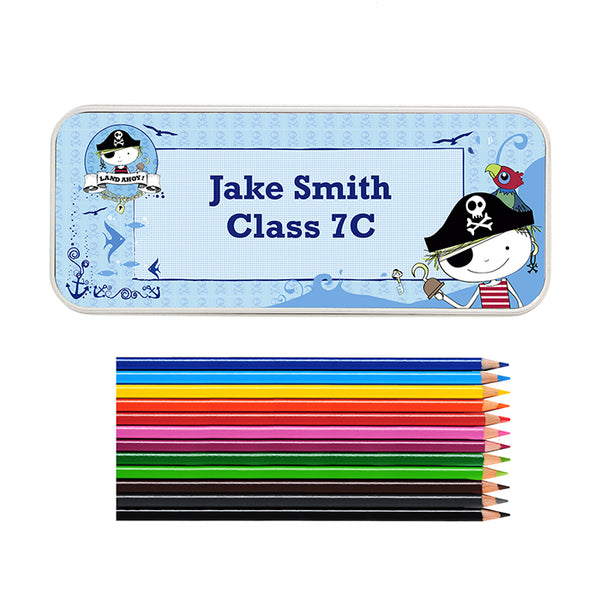 personalised-pirate-pencil-tin-with-pencil-crayons