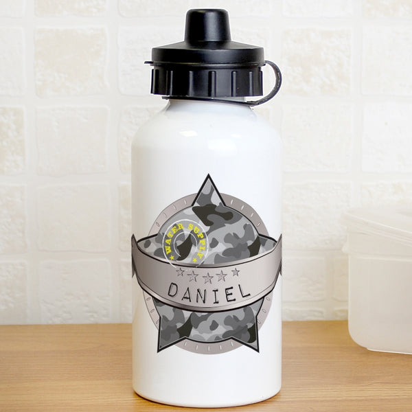 Personalised Army Camo Drinks Bottle - Shane Todd Gifts UK