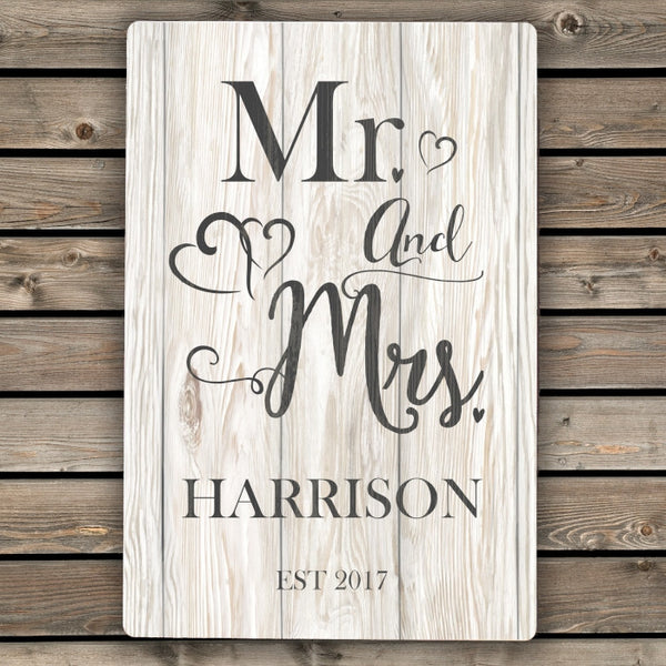 personalised-mr-mrs-metal-sign
