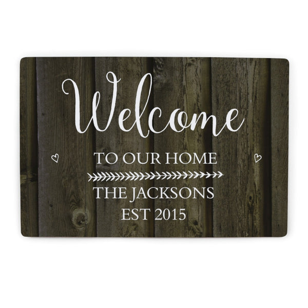 personalised-walnut-wood-grain-metal-sign