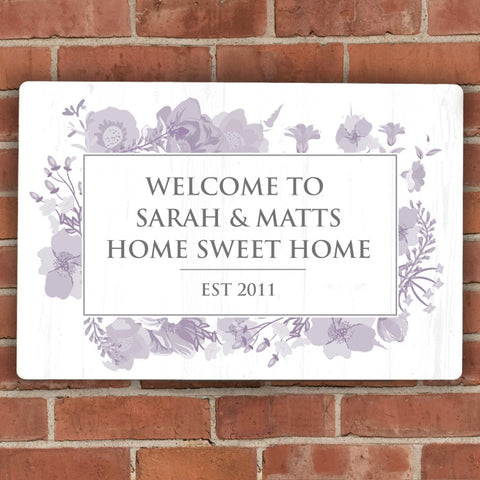 Buy Personalised Soft Watercolour Metal Sign