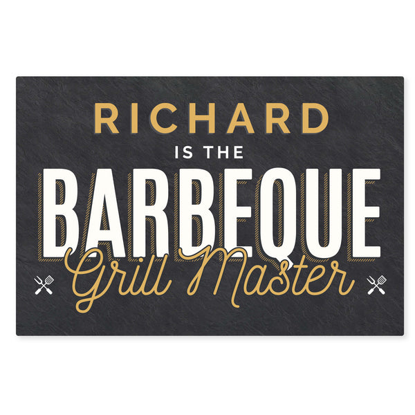 Personalised BBQ Grill Master Metal Sign
