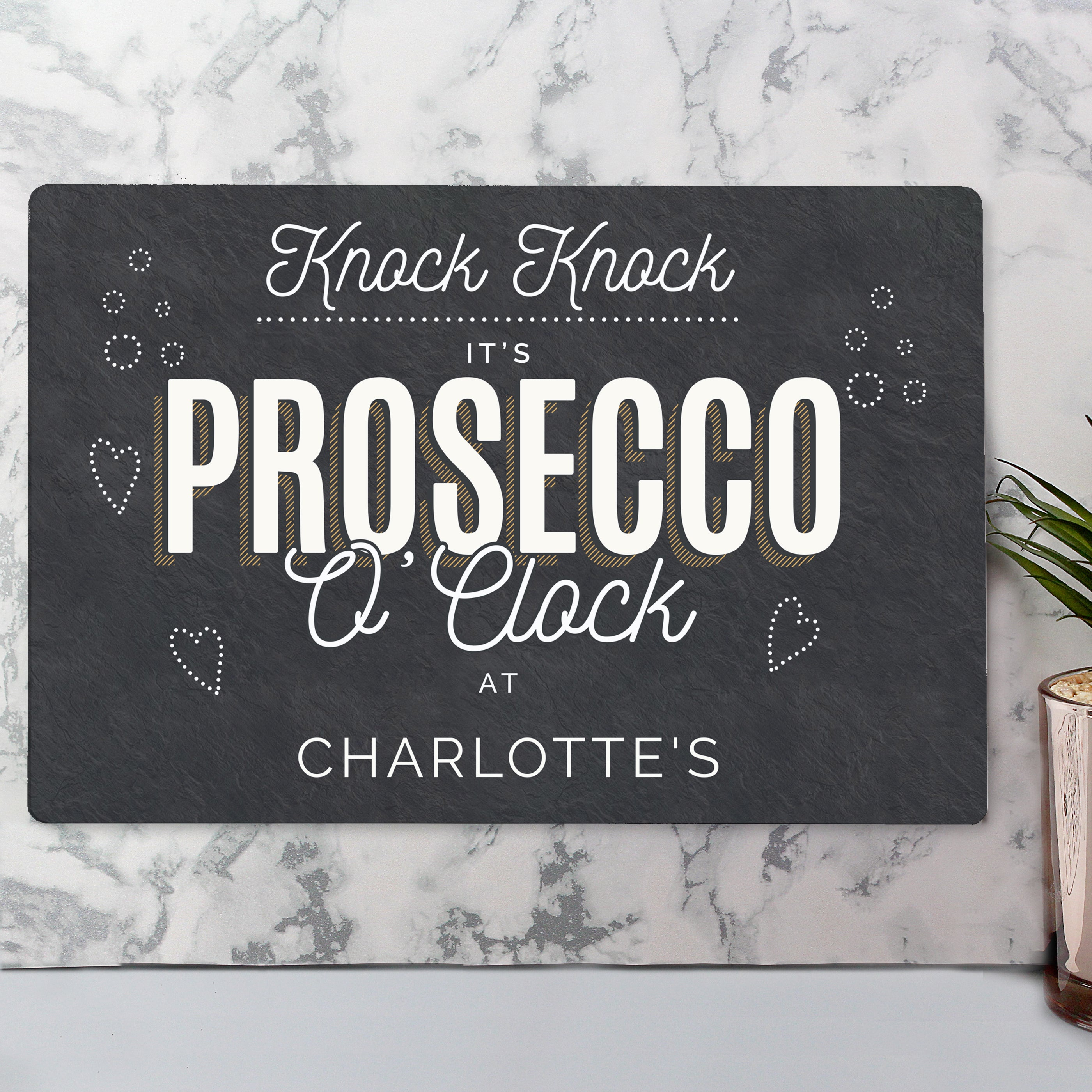 Personalised Prosecco Metal Sign, Business & Industrial by Low Cost Gifts
