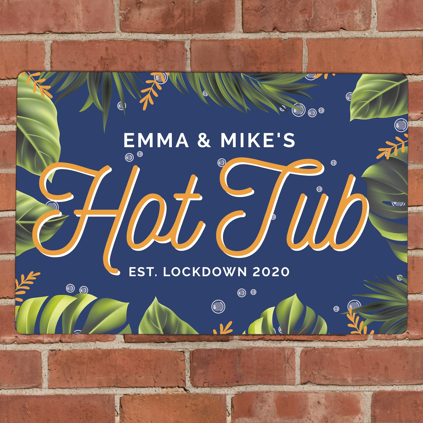 Personalised Hot Tub Metal Sign, Business & Industrial by Low Cost Gifts