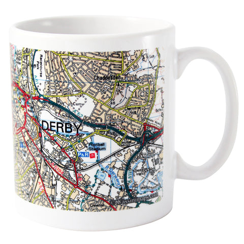 Buy Personalised Present Day Edition Map Mug
