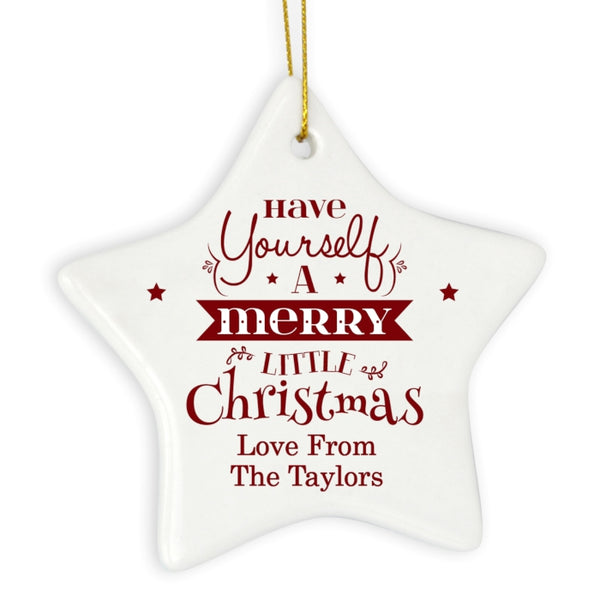 personalised-merry-little-christmas-ceramic-star-decoration