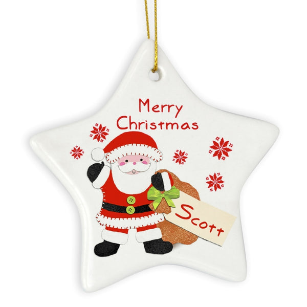 personalised-felt-stitch-santa-ceramic-star-decoration