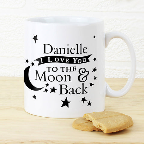 Personalised To the Moon and Back... Mug - Shane Todd Gifts UK