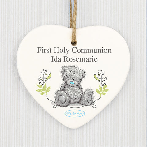 Buy Personalised Me To You Religious Cross Ceramic Heart Decoration