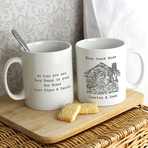 Buy Personalised 1805 - 1874 Old Series Map Home Mug