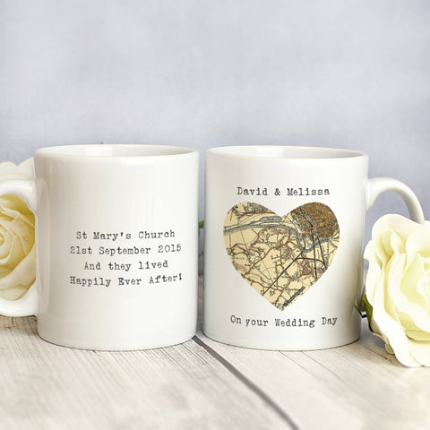 Buy Personalised 1896 - 1904 Revised New Map Heart Mug