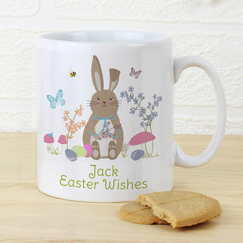 Personalised Easter Meadow Bunny Mug - Shane Todd Gifts UK