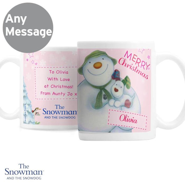 personalised-the-snowman-and-the-snowdog-pink-mug