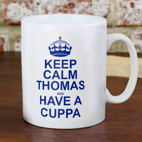 Buy Personalised Keep Calm Mug