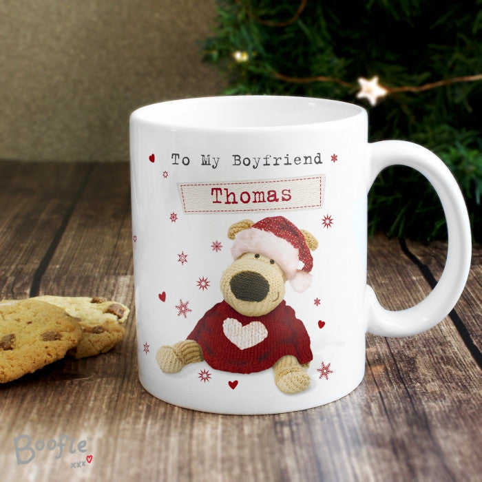 Buy Personalised Boofle Christmas Love Mug