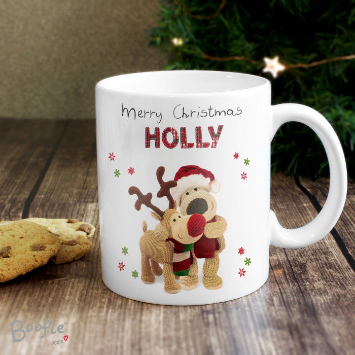 Personalised Boofle Christmas Reindeer Mug - Shane Todd Gifts UK