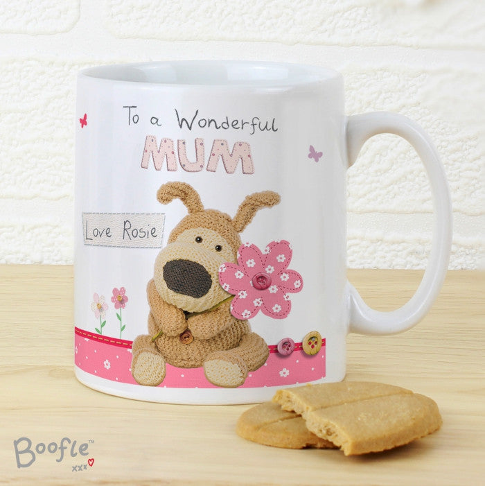 Buy Personalised Boofle Flowers Mug