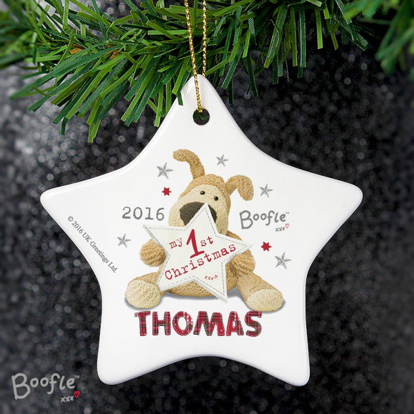 personalised-boofle-my-1st-christmas-ceramic-star-decoration