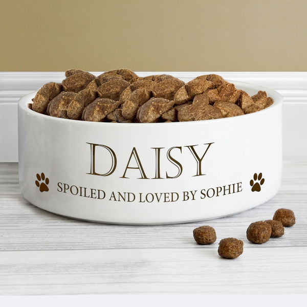 personalised-paws-14cm-medium-white-pet-bowl