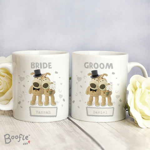 Buy Personalised Boofle Wedding Couple Mug Set